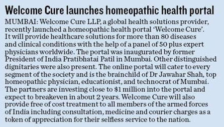 launch Welcome Cure of covered Navhind Times newspaper
